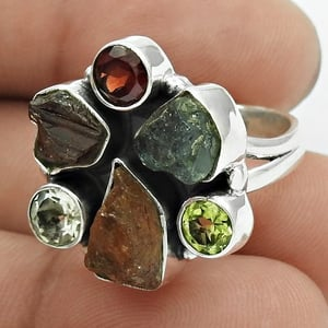 925 Sterling Silver Tourmaline Ring