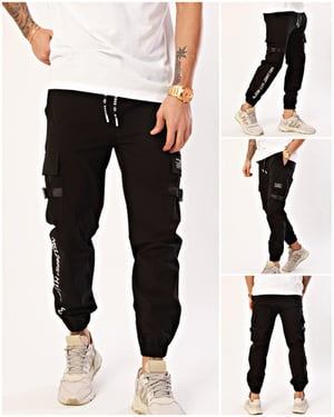 Nohow Men's Jogger Trousers Printed Black