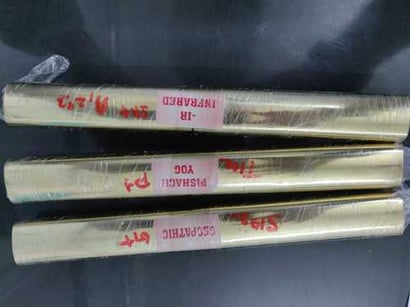 Original Geopathic Stress Rods - Geopathic Neutralizer Brass Rods For Vastu Length 9 Inch Approx (Colour : Gold)