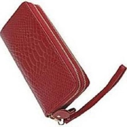 Brown Leather Wrist Let Purse