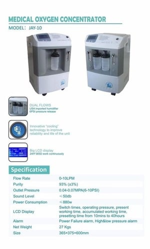 Oxygen Concentrator with LCD Display
