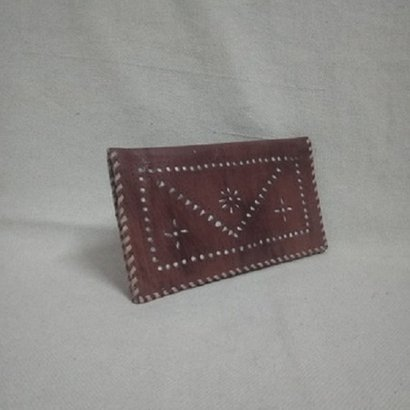 Various Colors Are Available Two Fold Ladies Leather Wallet