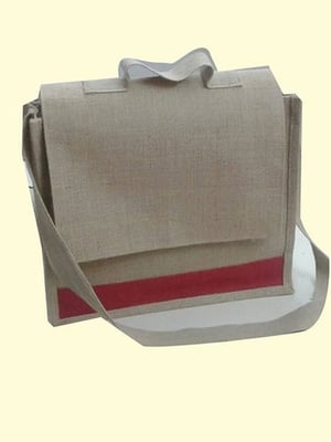 One Compartment Jute Sling Bag