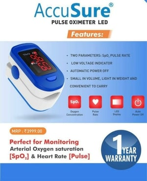 Pulse Oximeter with LED Display
