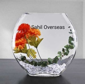 SAA Decorative Small Flower Glass Vase for Home and Decor
