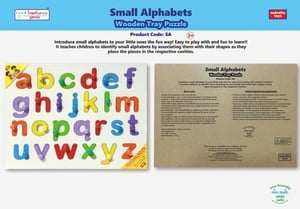 Small Alphabets Wooden Tray Puzzles Game