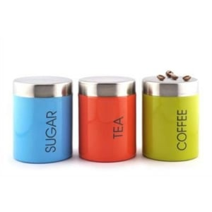 Stainless Steel Colorful Tea Coffee Sugar Canister