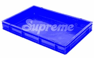 14 Liters Blue Solid HDPE Plastic Crates