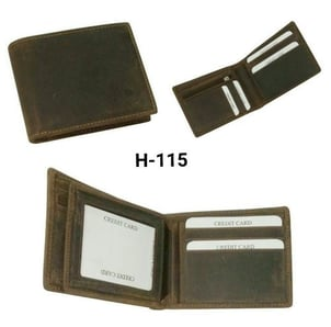Three Cards Slot PU Leather Mens Wallet
