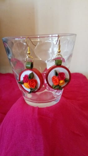 Paper Quilled Fashionable Earrings Sets