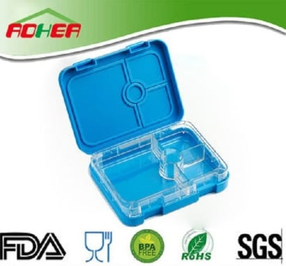 Blue 6 Sections Bento Lunch Box