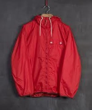 Red Unisex Loose Fit Windcheaters