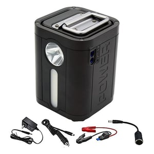 iLife Lithium Portable Power Station Portable Generator 100W 26800mAh CPAP Backup Battery Pack UPS Power Supply 110V AC Outlet, QC3.0 USB, 12V/24V DC, LED Flashlight for Camping, Home, Emergency
