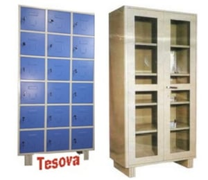 Glassdoor Cabinet for Tool Storage and Document