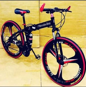 Adjustable Foldable Bicycle (Red, Black)