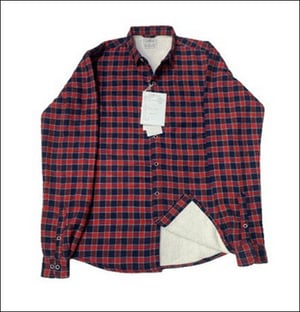 Mens Red and Black Flannel Sherpa Shirt