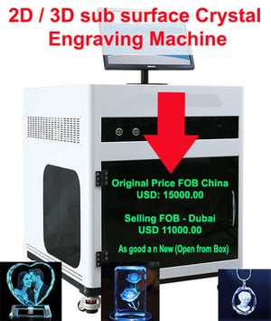 2D, 3D Sub Surface Crystal Engraving Machine