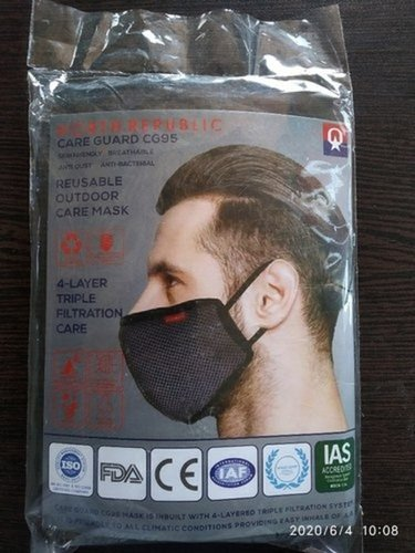 4 Layer Reusable Anti Pollution Face Mask Age Group: Adults