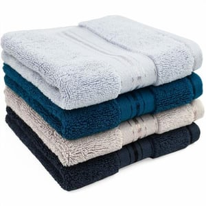 100% Soft Cotton Plain Colored Dyed Bathroom, Spa, Salon, Kitchen Skin Friendly Terry Hand Hand Face Towels