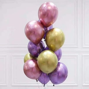Chrome Color Party Balloons