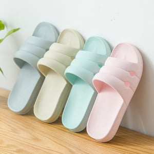 Home Cartoon Antiskid Couple Open Toe Candy Color Home Thick Soled Indoor Slippers