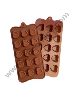 Silicon Ice Cake, Chocolate Making Soap Butter Decoration Jelly Tray Bakeware for Kids-15 (1, Heart)