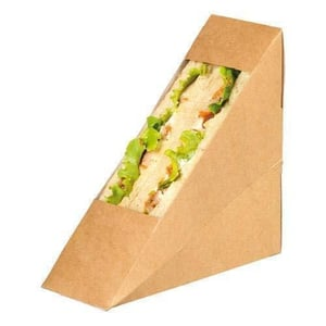 Disposable Brown Sandwich Packaging Paper Window Box