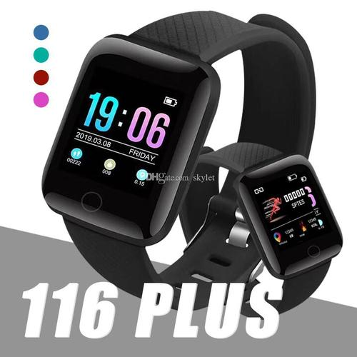 Smart Band Id116 Fitness Tracker Watch Heart Rate With Activity Tracker Waterproof Body Functions Like Steps Counter, Calorie Counter, Heart Rate Monitor