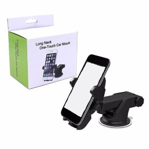 Long Neck One Touch Car Mobile Phone Holder with 360 Degree Rotating for Dashboard/Windshield, for iPhone and Android