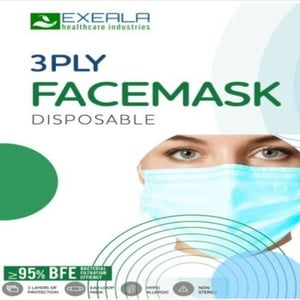 Exeala Medical 3 Ply Blue Face Mask