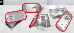 SS GN Pan Lid (1/2 Silicon Rubber Liner)