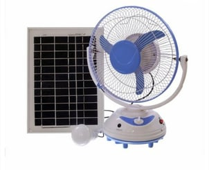 AC DC Rechargeable 300 MM Sweep Solar Table Fan