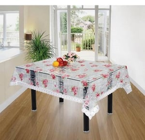 Printed Plastic Transparent Dining Table Cover