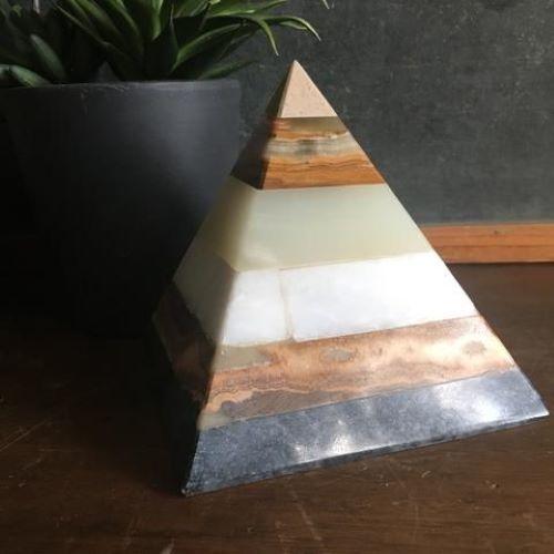 Multi Colored Natural Agate Stone Pyramid