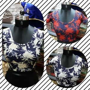 Lycra Fabric Ladies Stretchable Blouse
