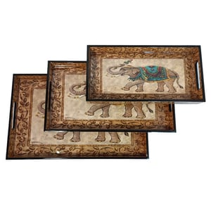 MDF Serving Tray Vector Design (Multi Size, Small, Medium and Large Size) Set of 3 Dinning, Serving Tray