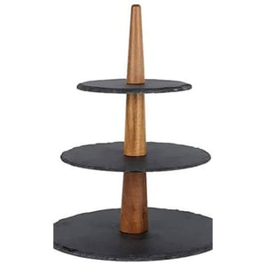 Wood and Marble Cake Stand