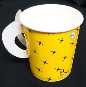 170 ML Printed Biodegradable Disposable Paper Handle Cup