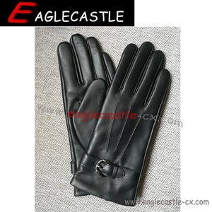 Lady Leather PU Winter Gloves