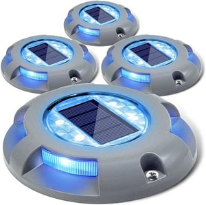 Steady Mode Blue LED Light Solar Power Plastic Reflective Road Markers