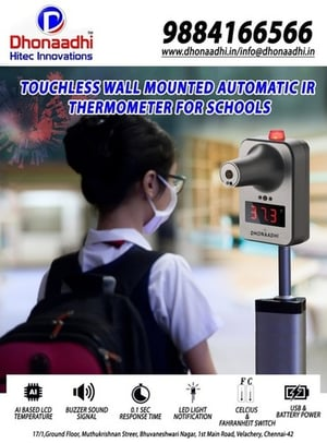 Wall Mounted IR Thermometer For Schools