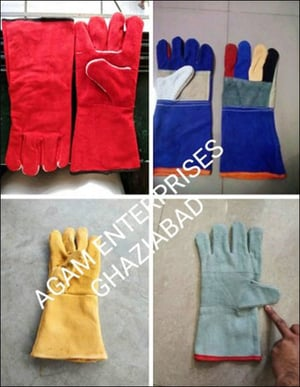 Water Resistant Leather Hand Gloves