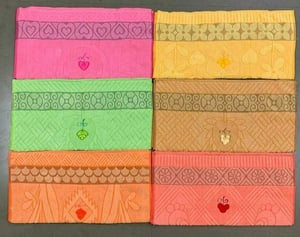 Rectangle Shape Embroidered Jacquard Towels