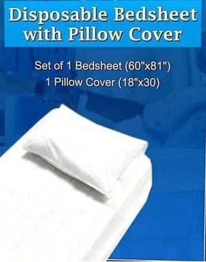 Disposable Non Woven Bed Sheet With Pillow Cover