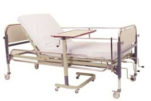 Adjustable Hospital Bed and Table