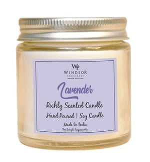 Lavender Flavor Richly Scented Soy Wax Jar Candle