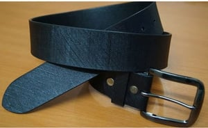 Genuine Leather Belt for Men with Pin Buckle