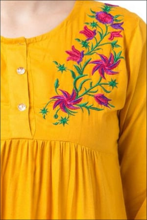 Women Party Wear Embroidered Tops