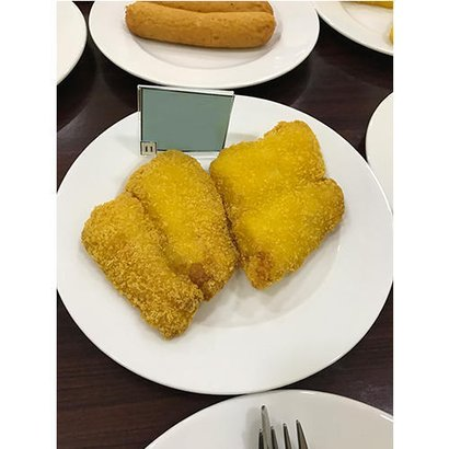 Indian Fast Food Fried Fish Breaded Portion