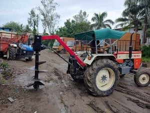 Tractor Attached Post Hole Digger